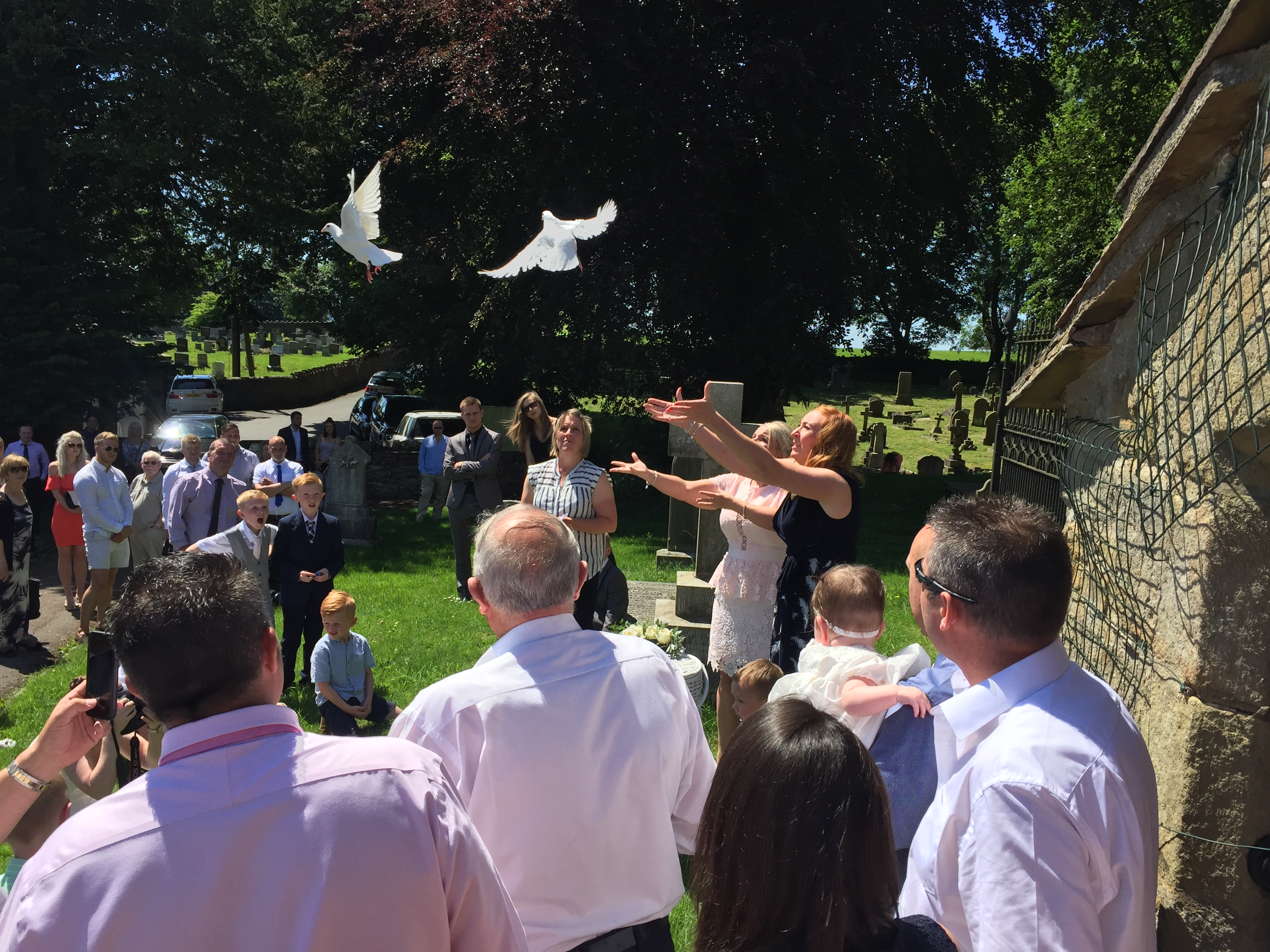 Baptism doves for peace and hope